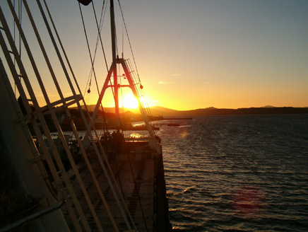 Sunset at the Falkland Islands